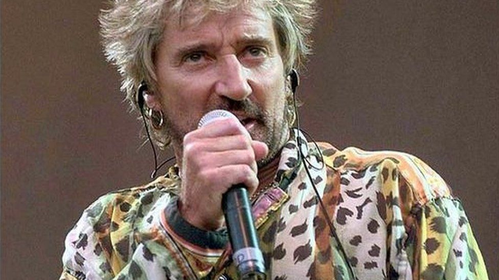 Rod Stewart performing during the Songs and Visions concert at Wembley Stadium