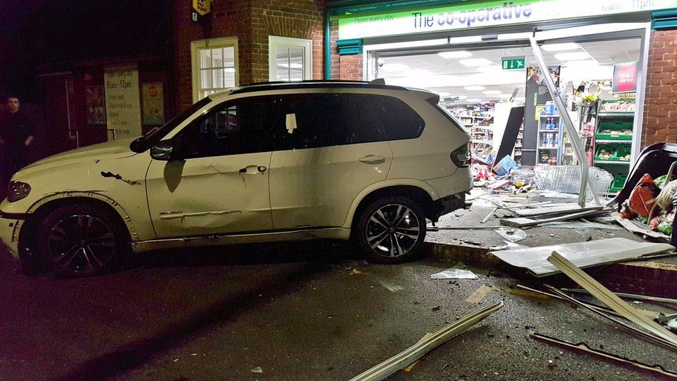 The Co-op frontage smashed