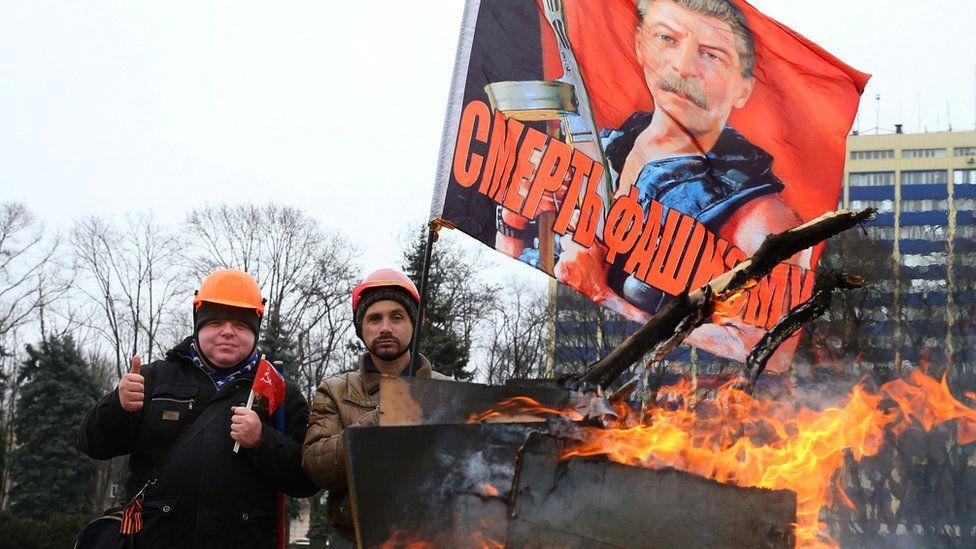 Лагерь на Куликовом поле в Одессе в марте 2014 года