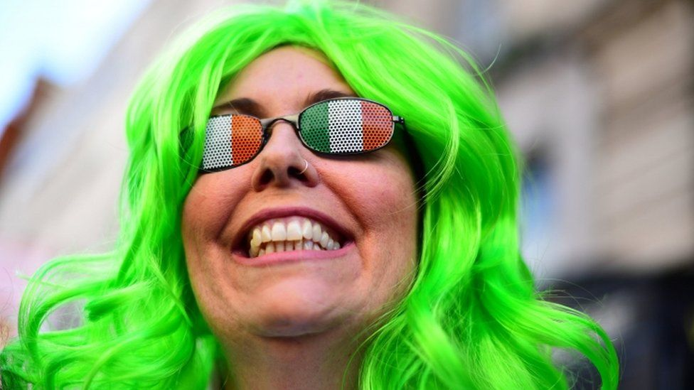 Participants during the Mayor of London's St Patrick's Day Parade.
