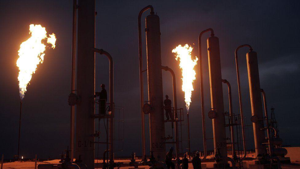An Uzbekistan gas compression plant