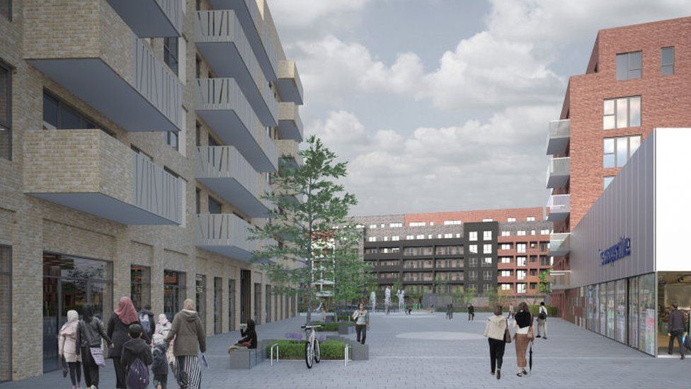 The redevelopment of Marlowe Road Estate and the Wood Street Plaza