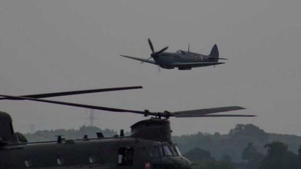 A picture taken at the time of the incident at Cosford