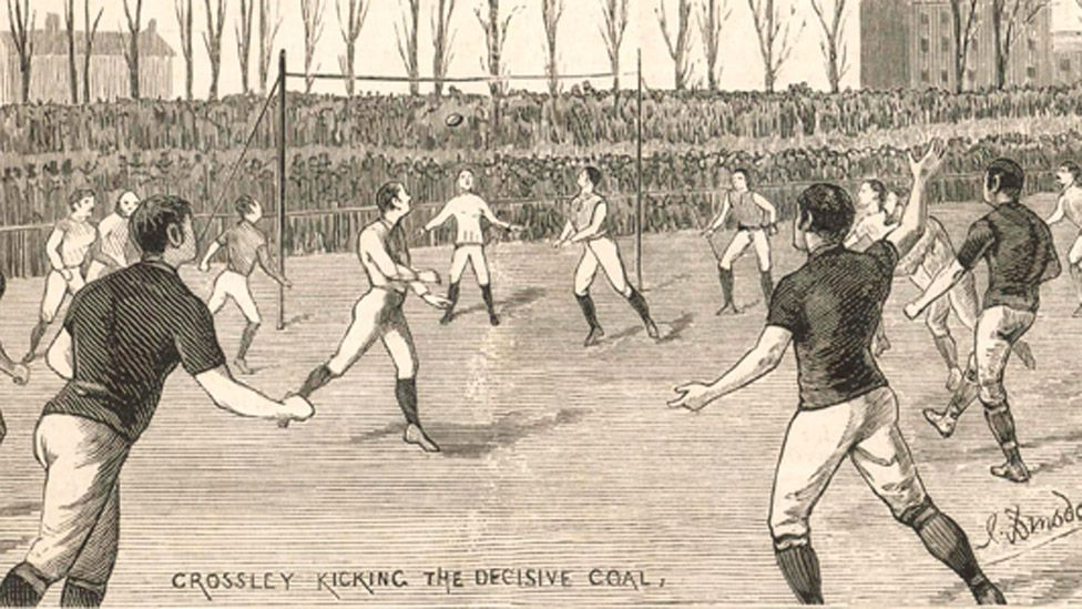 The Final of the Football Association Challenge Cup : The Old Etonians beaten by Blackburn Olympic. 1882/3