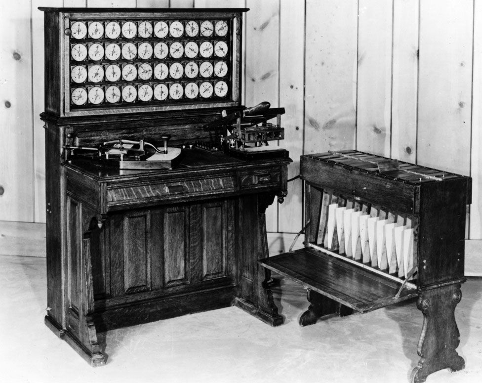 Herman Hollerith's tabulator and sorter box, used in the 1890 United States census