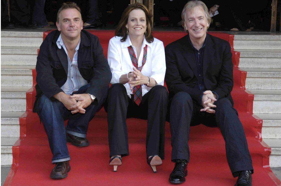 Marc Evans, Sigourney Weaver and Alan Rickman during Edinburgh International Film Festival