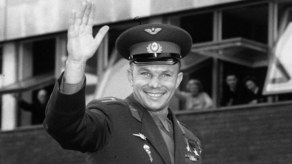 Yuri Gagarin on a visit to London in 1961