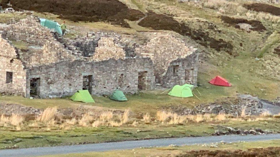 Wild camping Covid breaches