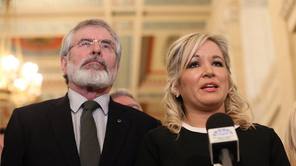 Gerry Adams and Michelle O'Neill