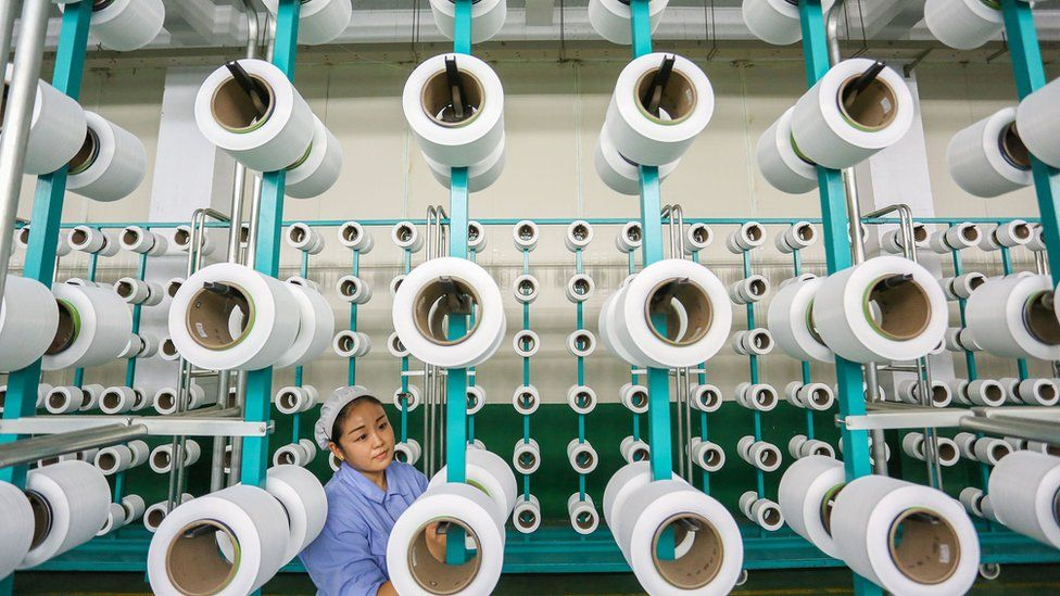 Chinese worker in factory