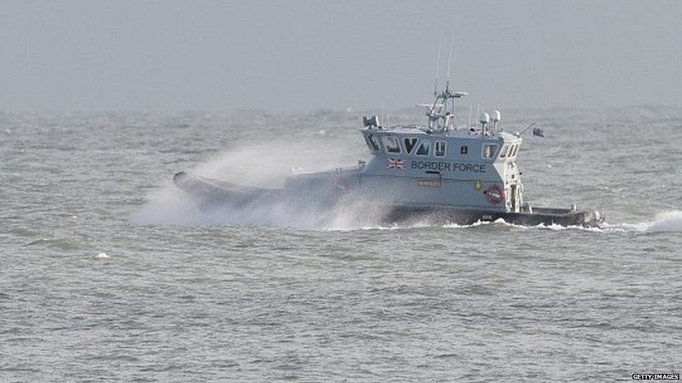 Border Force vessel on patrol in the English Channel