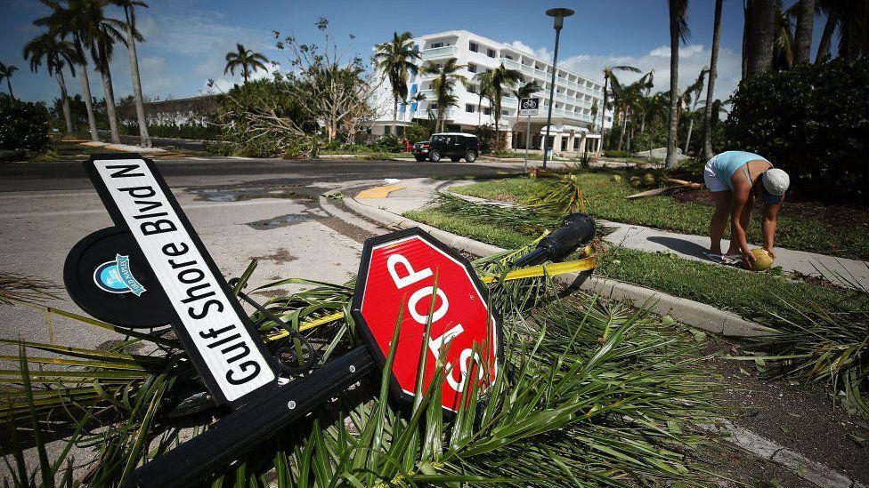 Damage froim Hurricane Irma