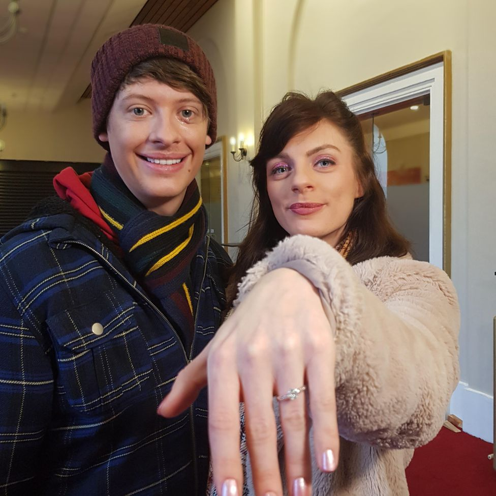 Natasha Lamb with fiancé Matthew Pomeroy