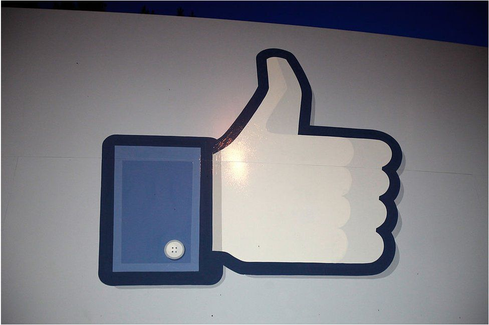 A 'like' sign stands at the entrance of Facebook headquarters 18 May 2012 in Menlo Park, California