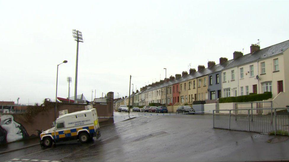The Lone Moor Road alert was close to Celtic Park GAA stadium
