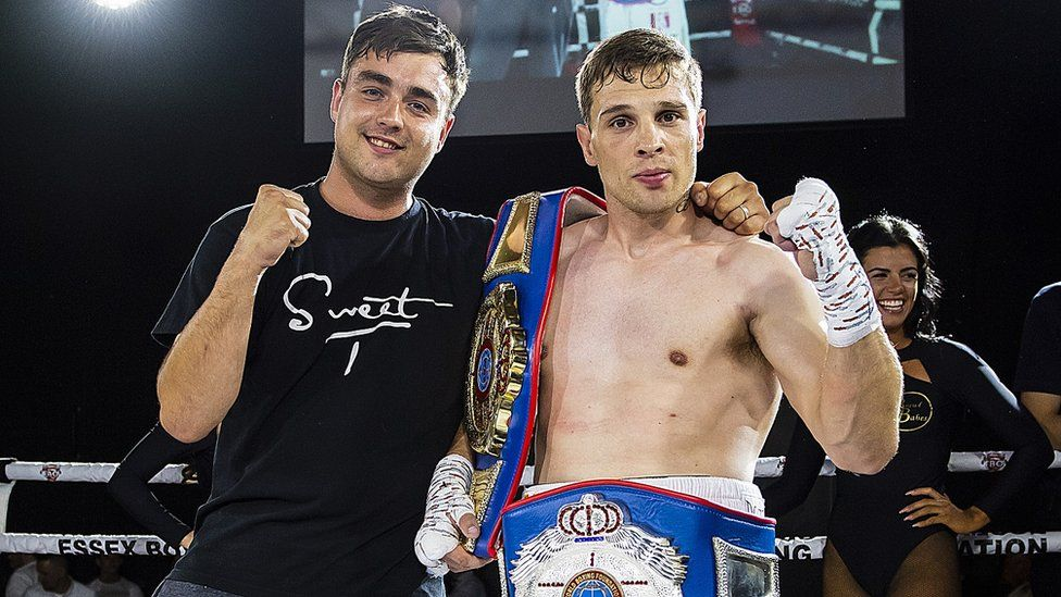 Boxer Tommy Jacobs with brother Matt
