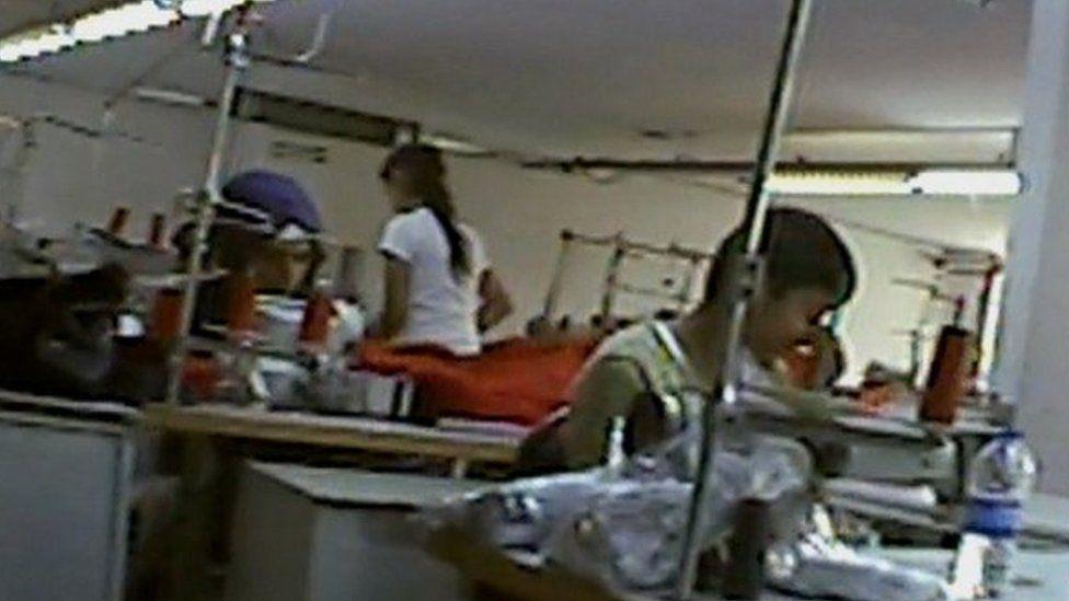 Children working in factory