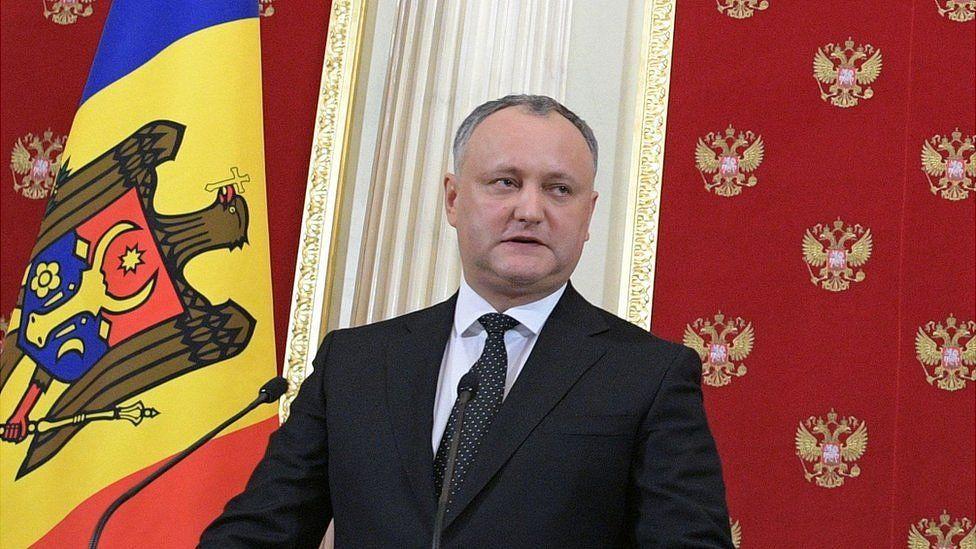Moldovan President Igor Dodon in Moscow, 17 Jan 17