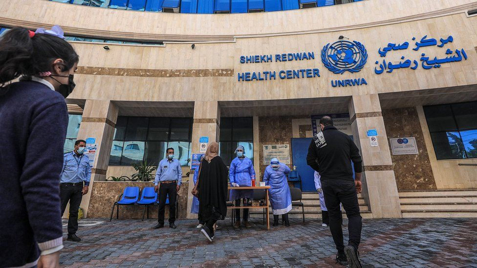 Unrwa's Sheikh Radwan Health Centre in Gaza City (24 February 2021)