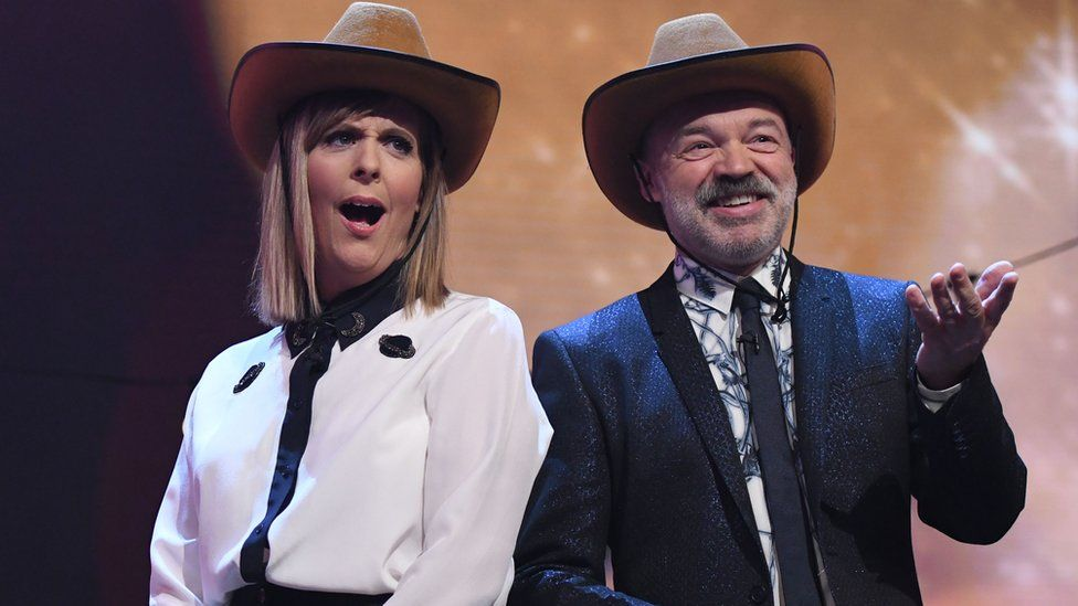 Mel Giedroyc and Graham Norton