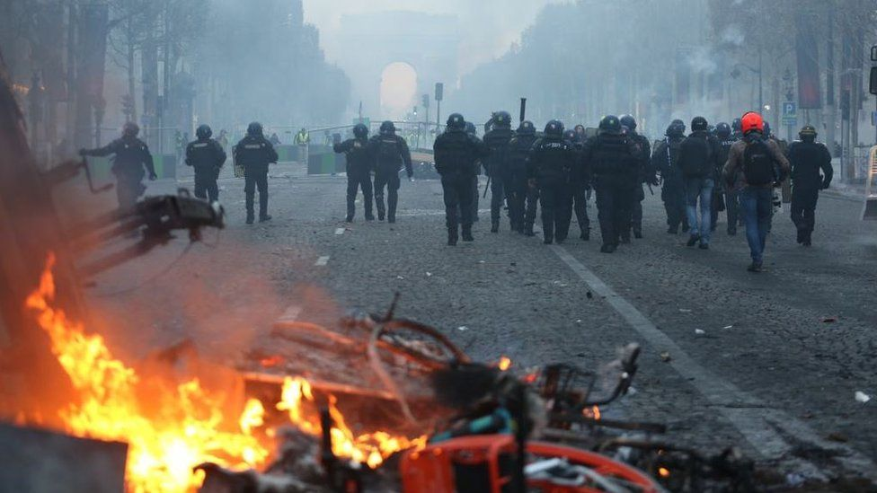 Destrozos en París