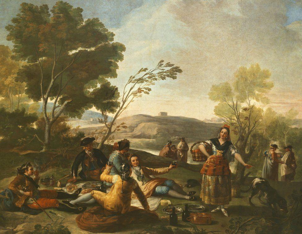 La Merienda (The picnic), tapestry by Francisco de Goya, 1776