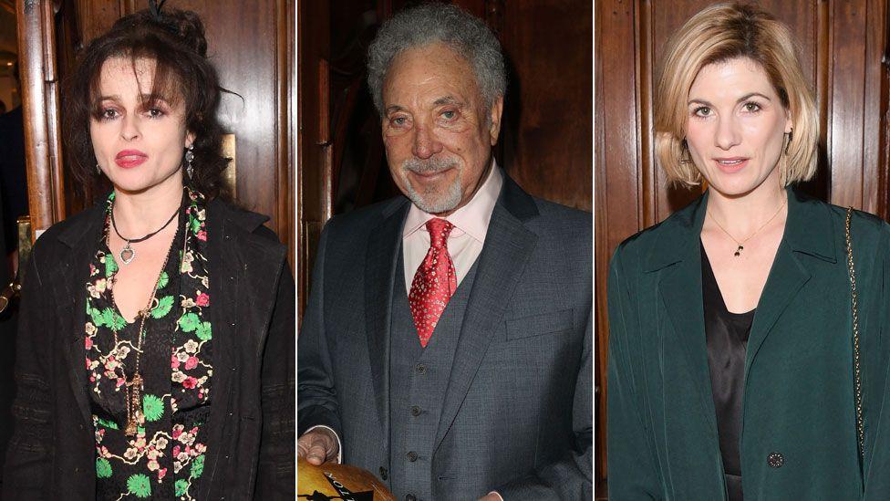 Helena Bonham Carter, Sir Tom Jones and Jodie Whittaker