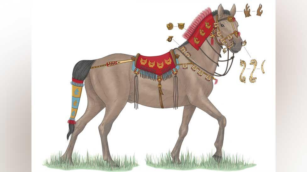 Saka horse unearthed at Berel