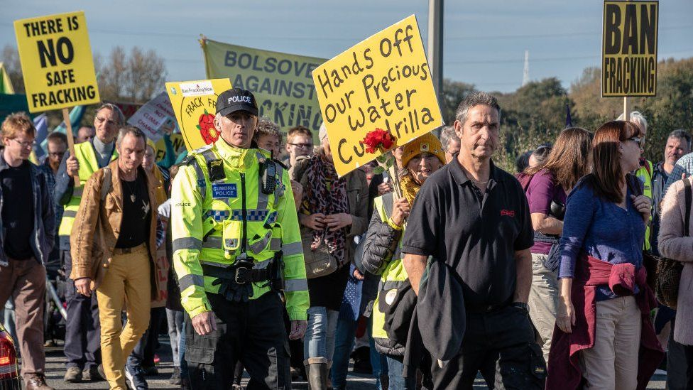 Local communities and environmental groups have protested against fracking