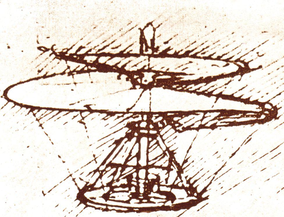Da Vinci's helicopter