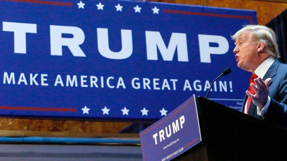 Trump at election rally