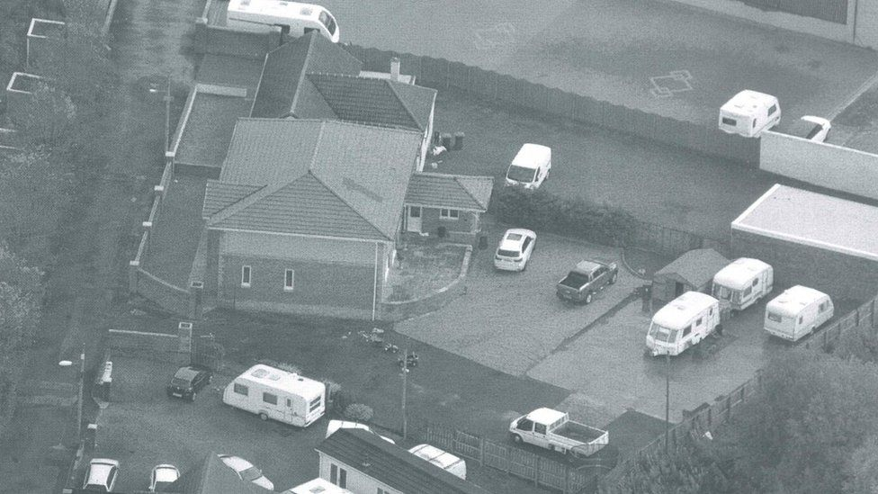The gang operated from traveller sites including this one in Larkhall