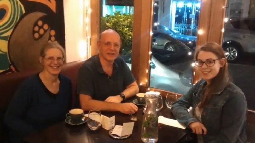 Margaret and Robert Abrahart with Natasha