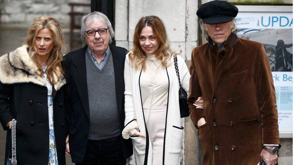 Bill Wyman at the wedding of Rupert Murdoch and Jerry Hall