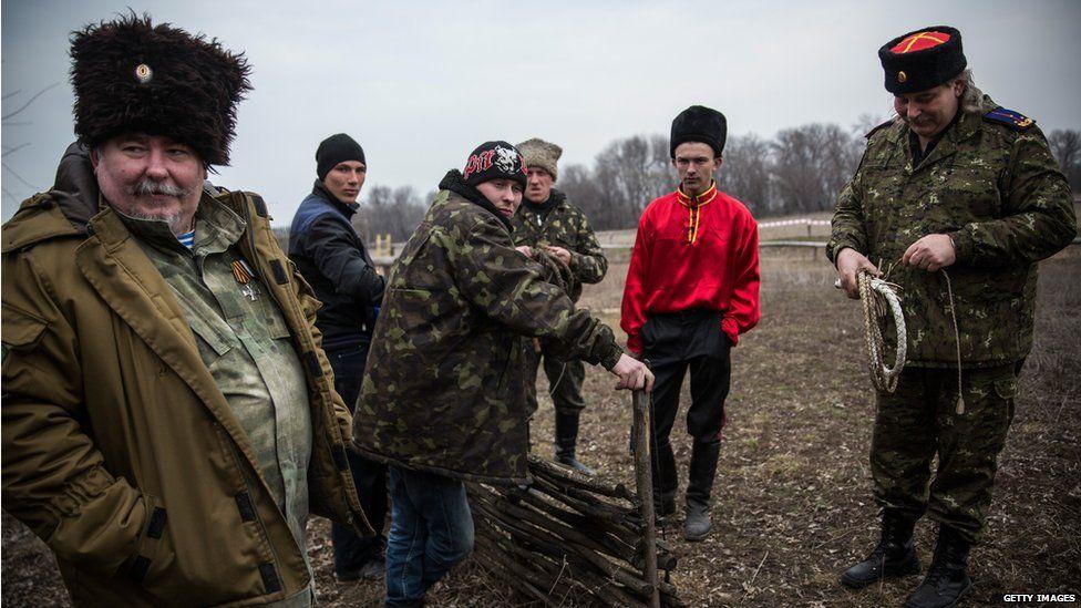 Cossacks in eastern Ukraine