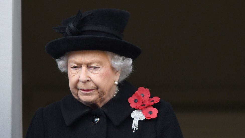 The Queen at the annual Remembrance Sunday memorial at The Cenotaph