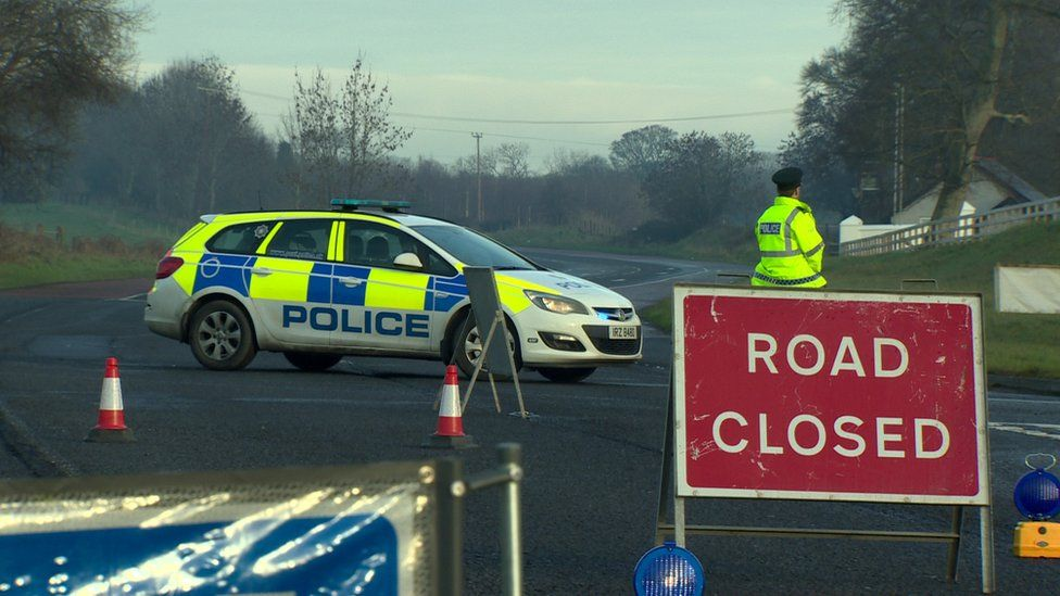 The scene of the crash on Moy Road in Armagh