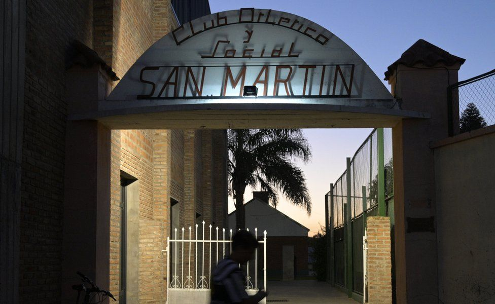 San Martin de Progreso club entrance