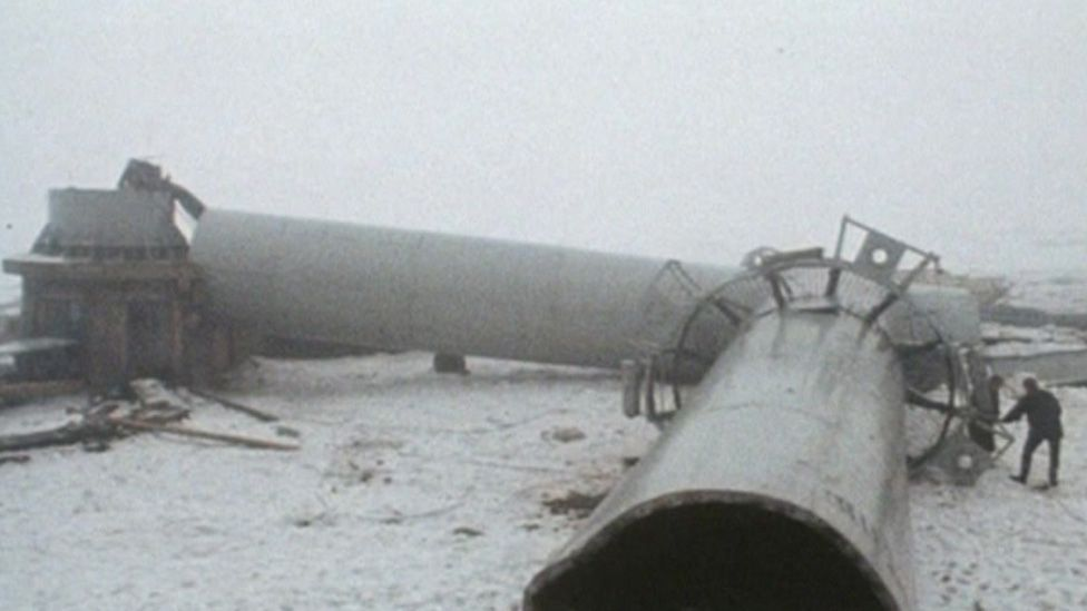 Collapsed TV tower
