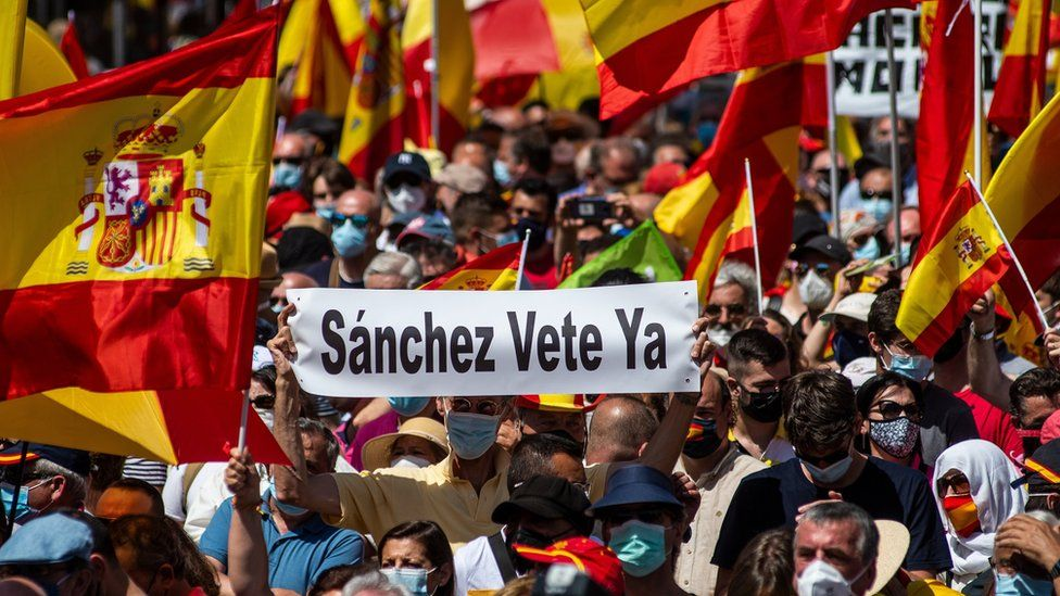 Protesters in Madrid