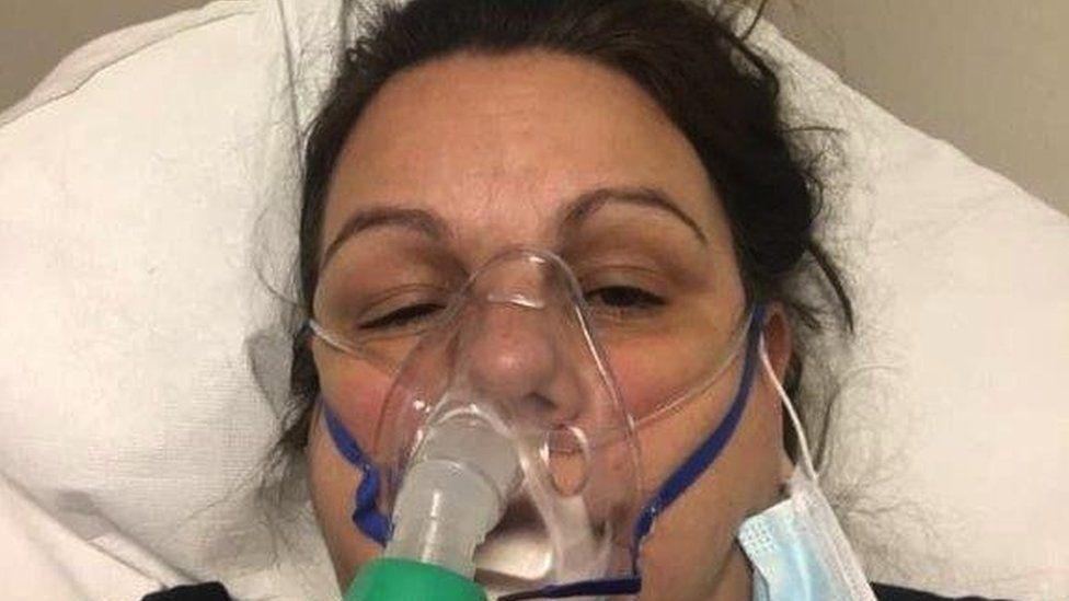 Tessa in hospital