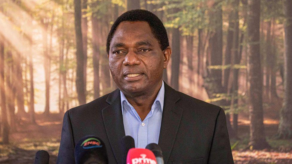 Zambian president Hakainde Hichilema