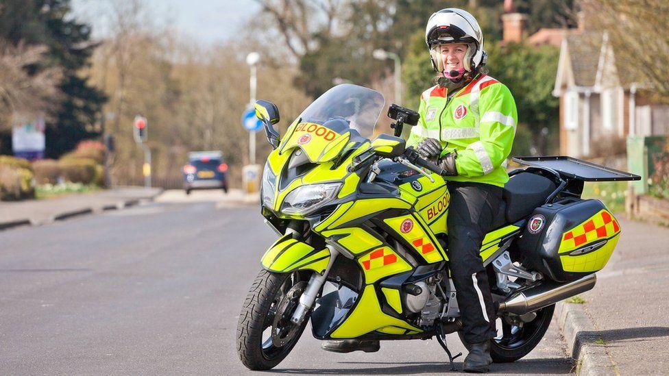 Isabel Kydd on her blood bike