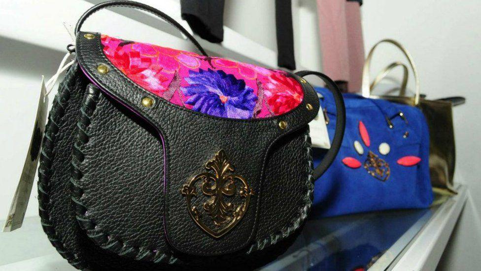A handbag made by Mexican firm Royal Dalia