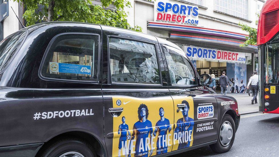 Exterior of Sports Direct, Oxford Street