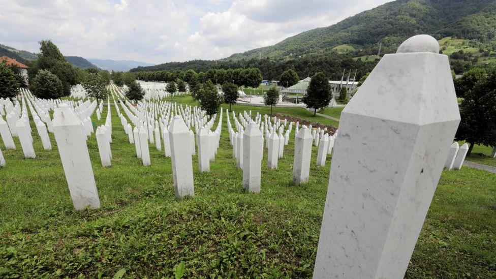 Graves of victims of Srebrenica massacre, Bosnia