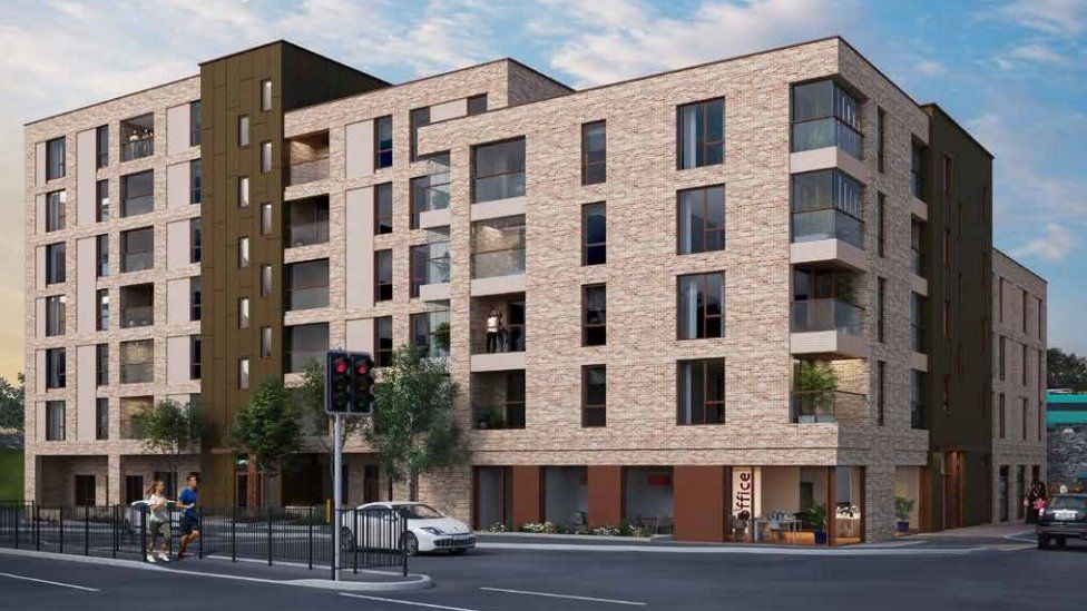 Proposed flats for Waungron Road tip in Cardiff