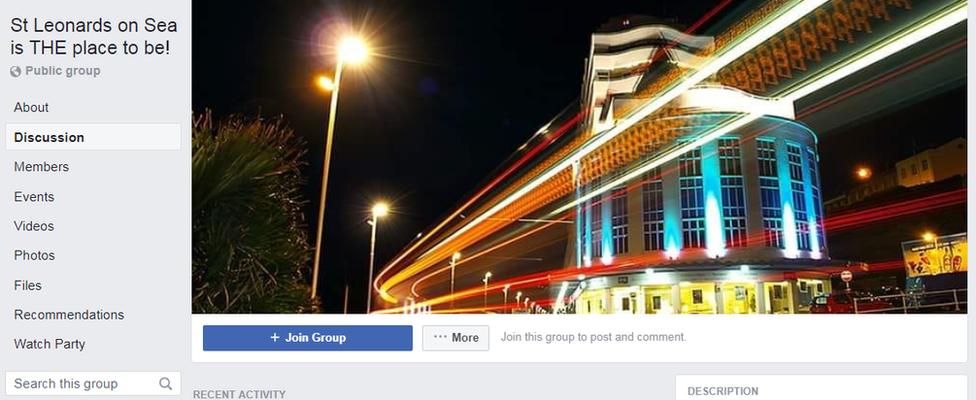 A screenshot of St Leonards Facebook group