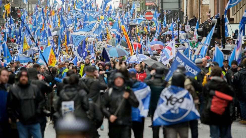 independence march in glasgow