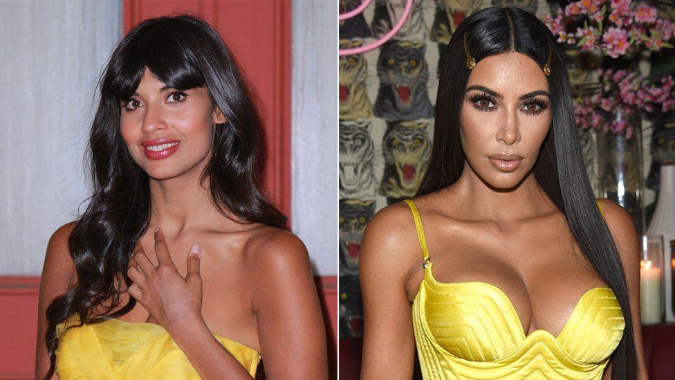 Jameela Jamil and Kim Kardashian